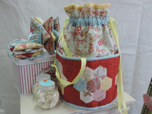 Hexagon Drawstring Bag