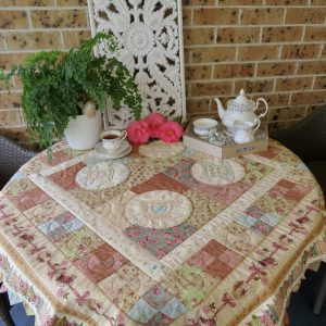 Another Round of Tea Quilt & Stitchery Pattern
