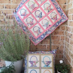 Spring Baskets Cushion and Mini Quilt